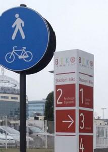 Segnaletica per piste ciclabili